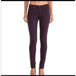Rag & Bone 28 Purple Eggplant Legging Skinny Jeans